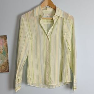 Banana Republic Striped Blouse Size S Very Good Co